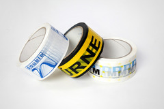 Adhesive tapes with labels